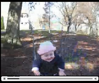 Anna in the swing